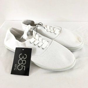 385 Fifth Womens Sneakers Low Top Lace Up Canvas 8